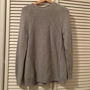 Worn Once! LOFT grey soft knit sweater! Sz Sm